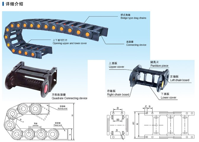 加强型桥式工程塑料拖链1